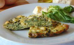 Frittata di spinaci al forno   Baked spinach frittata, recipe