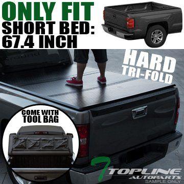 "Topline Autopart Tri-Fold Hard Tonneau Cover Trunk Lid 09-16 Dodge Ram 1500 2500 3500 5.7 Ft 68.4"" Short Bed. For product info go to:  https://www.caraccessoriesonlinemarket.com/topline-autopart-tri-fold-hard-tonneau-cover-trunk-lid-09-16-dodge-ram-1500-2500-3500-5-7-ft-68-4-short-bed/"