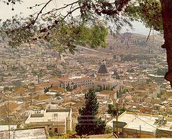 Nazareth is known as the Arab capital of Israel because of the large Arab population.  Because it was the childhood home of Jesus there are shrines commemorating biblical events.