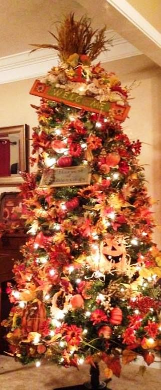 319 best fall tree decor images on pinterest fall trees for Apple tree decoration