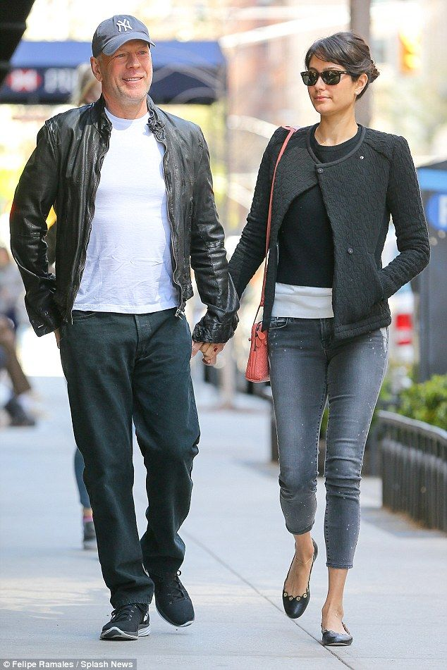 Bruce Willis and wife Emma grab breakfast in New York city on Sunday...