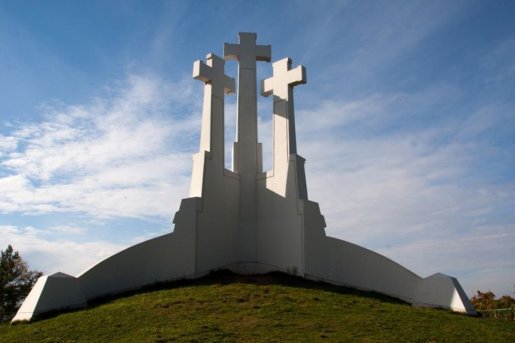 Three Crosses Hill in Vilnius. From that place you can see a stunning panorama of the city.