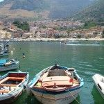 A beautiful scenery for the fishermen' boats