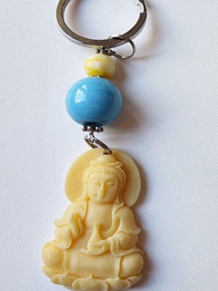 Buddha - blau  Schlüsselanhänger