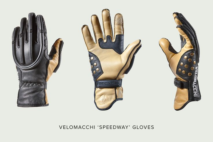 Velomacchi 'Speedway' motorcycle gloves—modern construction with a vintage look.