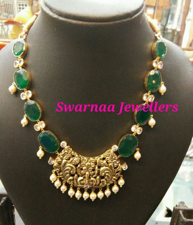 Emerald inspired South Indian Jewellery
