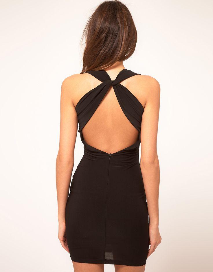 vestidos cortos espalda cruzada 3 Vestidos cortos espalda cruzada