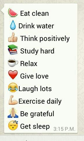 Positive tips with Emojis!