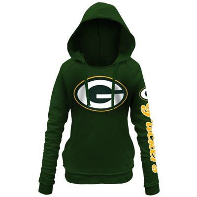 5th and Ocean by New Era Green Bay Packers Women's Green Snap Count Pullover Hoodie