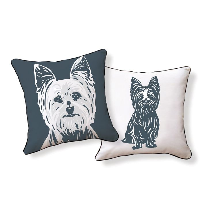 yorkie pillow: Terrier Reversible, Terriers, Terrier Pillow, Pillow Talk, Yorkshire Terrier, Yorkie, Naked Decor, Pillows