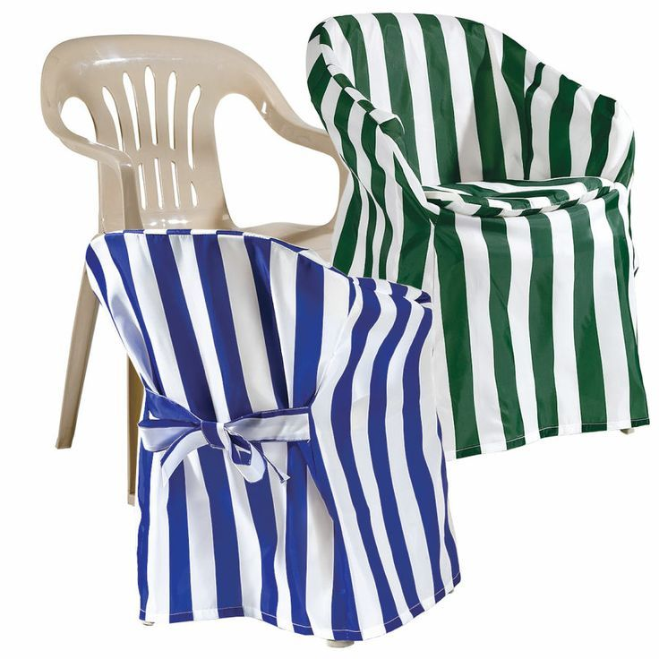 High Quality I Wouldnu0027t Bother Putting Chair Covers On Cheap, Plastic Outdoor Chairs,  But I Sure Do Like The Striped Fabric For Chiavaris Or Folding Chairs. Part 18