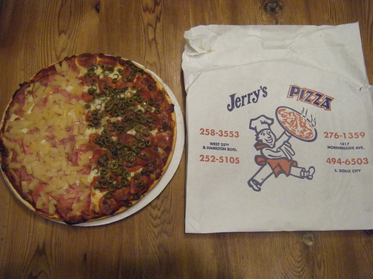 Jerry's Pizza in Sioux City is the BEST!  If you are passing through or live near - this pizza is a must-try!