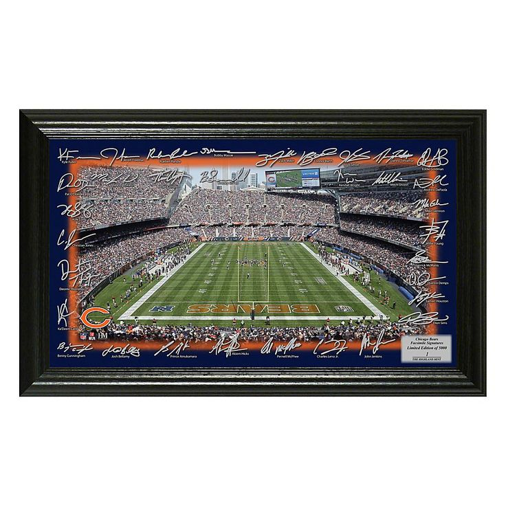 Officially Licensed NFL 2017 Signature Gridiron Print - Bears