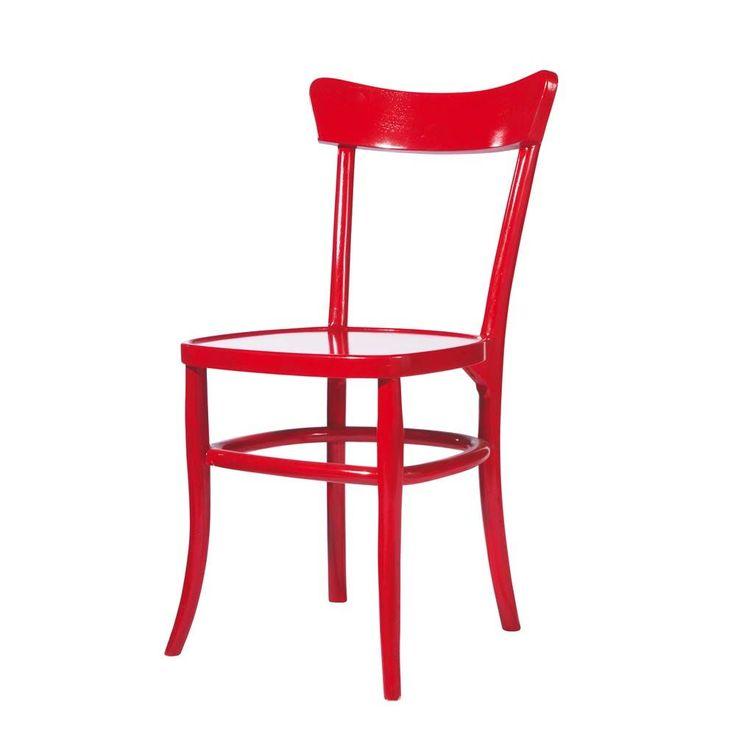 Sedia rossa in massello di legno in 2019 aaa idee per for Idee per casa nuova