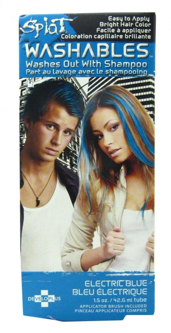 Splat Hair Color Electric Blue Washout Dye, Free Shipping at Nail Polish Canada