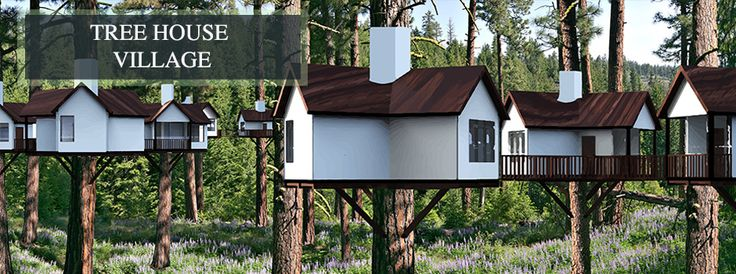 Tree House Village Concept Render - Click for the Complete Open Source Hub