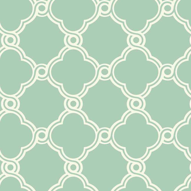 Teal White Ap7493 Open Trellis Wallpaper Contemporary Modern Wallpaper