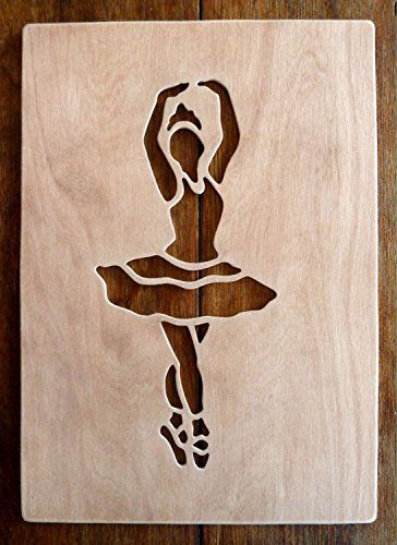 """Beautiful Large Sized Hand Crafted MDF 'Ballet Dancer' Drawing Template / Stencil - Approx 9"""" X 4"""" by Greg Ledder http://www.amazon.co.uk/dp/B00MQ9OOVO/ref=cm_sw_r_pi_dp_-eLjvb1PNMP27"""