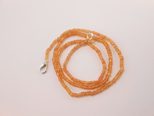 Natural-Songea-Yellow-Sapphire-Faceted-Rondelle-Beads-Necklace-17-2-5-3-5mm
