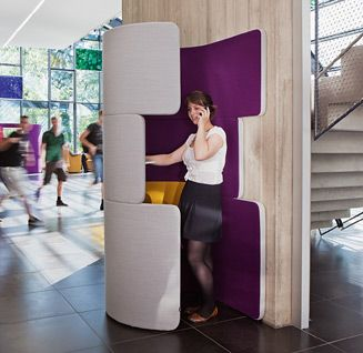 Great little space to use a cell phone and find a little privacy in the new open office. www.ofw.com/pinterest