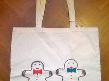 Shopping bag in cotonone biologico dipinta a mano