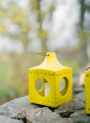 Pretty yellow candle holders