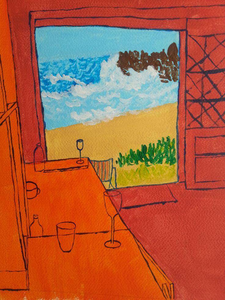 Interieur naar Matisse 30x40