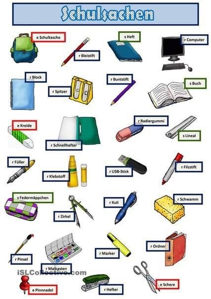 Die Schulsachen