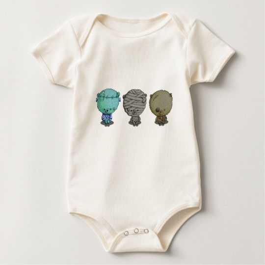3 little monsters baby bodysuit by I Love the Quirky