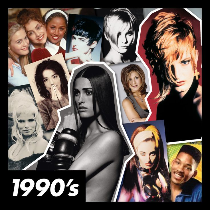 #ToniAndGuy's #90s collage #1990s #toniandguy50yrs