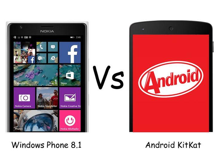 Windows Phone 8.1 vs Android 4.4 KitKat Update