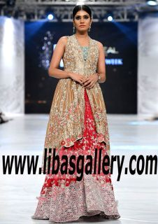 Trendiest Fornt Open Tail Cut Bridal Wear with jamawar Embellished Lehenga for Wedding or Special Occasions -still get amazed by Designer incredible talent and patience. www.libasgallery.com #UK #USA #Canada #Australia #France #Germany #SaudiArabia #Bahrain #Kuwait #Norway #Sweden #NewZealand #Austria #Switzerland #Denmark #Ireland #Mauritius #Netherland #Partywear #SpecialOccasionDresses #SpecialOccasionDress #style #latest 💕 #newcollection #bridesmaid  #outfits #luxury #fashion…