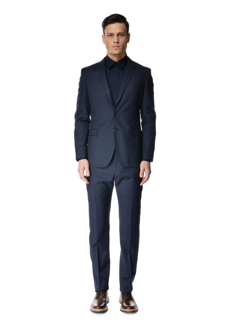 """Tonello - Spring Summer 2015 - Menswear // Navy Patterned """"Drop 8"""" Suit"""