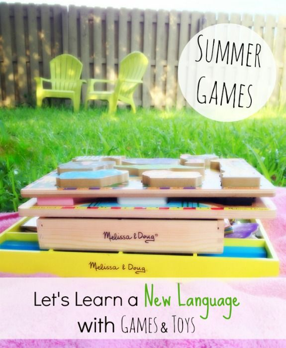 Let's Learn a New Language with Games and Toys this Summer!  Works with any language you want to expose your child to!  Written by Kim Vij