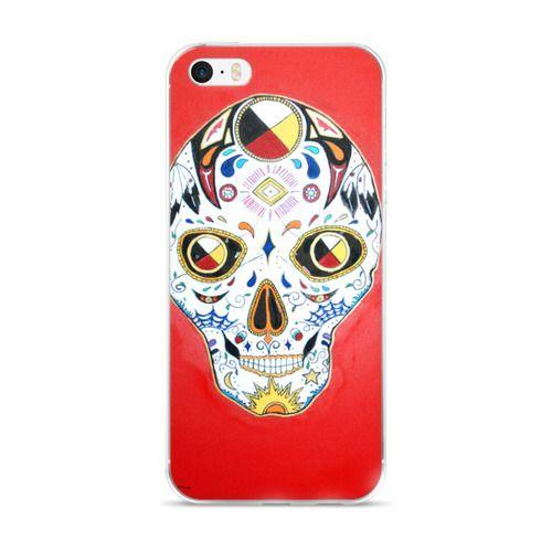 Native Sugar Skull 2 iPhone 5/5s/Se, 6/6s, 6/6s Plus Case