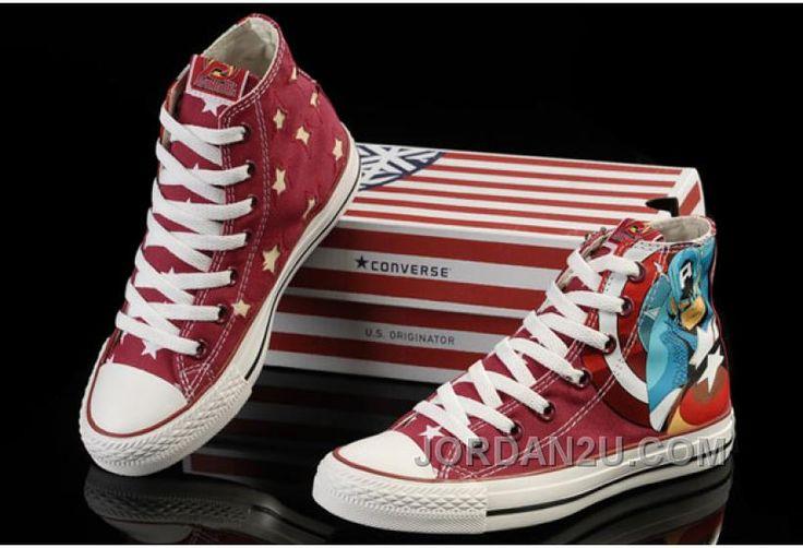 http://www.jordan2u.com/captain-america-converse-red-high-tops-canvas-shoes-74qtc.html CAPTAIN AMERICA CONVERSE RED HIGH TOPS CANVAS SHOES 74QTC Only $56.00 , Free Shipping!