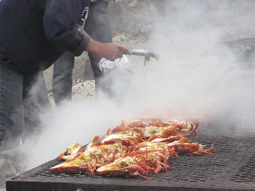 Crayfish on the braai with http://www.winewizard.co.za/wine/sauvignon-blanc/white/ken-forrester-wines-sauvignon-blanc/