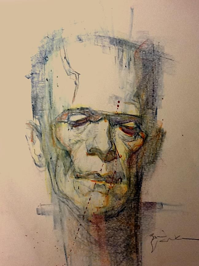 Frankenstein's Monster by Bill Sienkiewicz