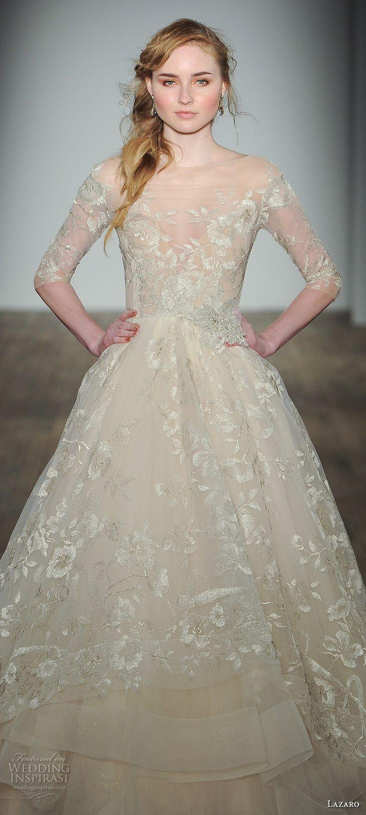 576 best i love lazaro images on pinterest short wedding for Lazaro a line wedding dress