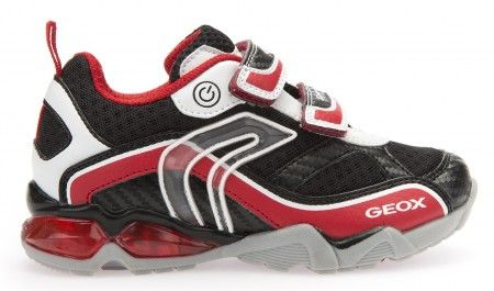 Geox Lights Eclipse Trainers White Red