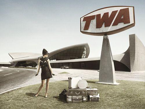 Saarinen designed TWA terminal at JFK airport embodies the optimism of the jet age