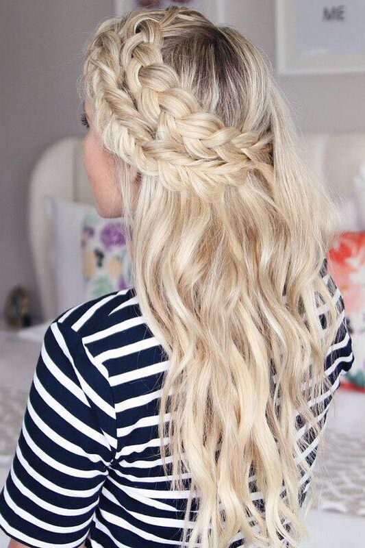 Double Braid Perfection on @twistmepretty with her Ash Blonde Luxy Hair Extensions <3 #LuxyHairExtensions