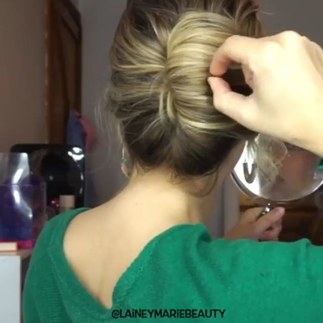 Quick tutorial on an easy way to do a French twist.