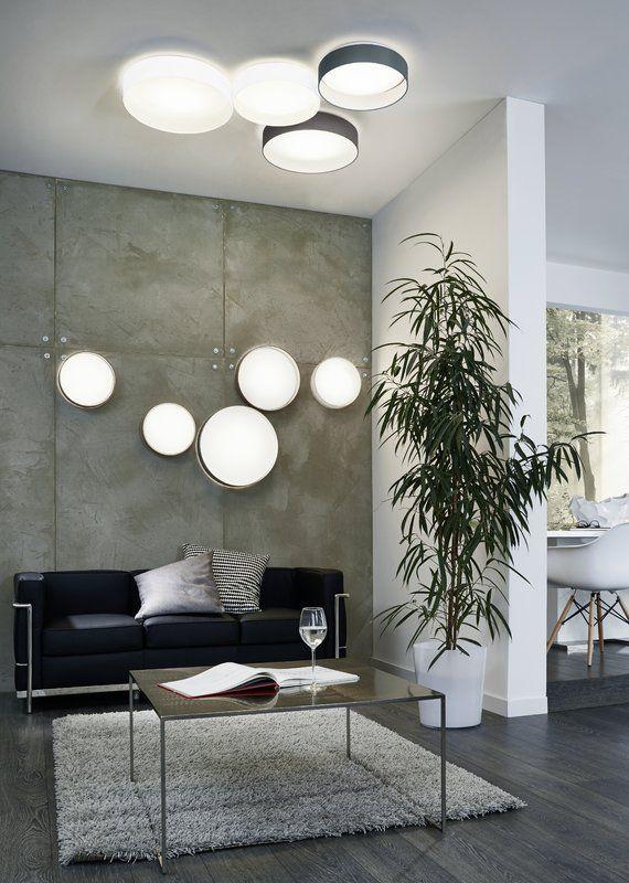 Felicia 1 Light Led Flush Mount In 2020 Living Room Lighting Design Living Room Lighting Eglo