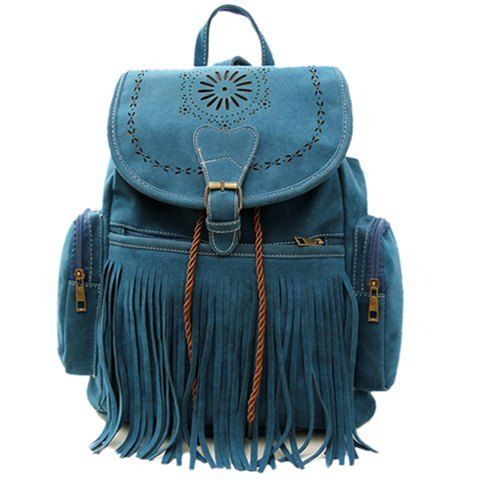 Retro Engraving and Fringe Design Women's SatchelSatchel