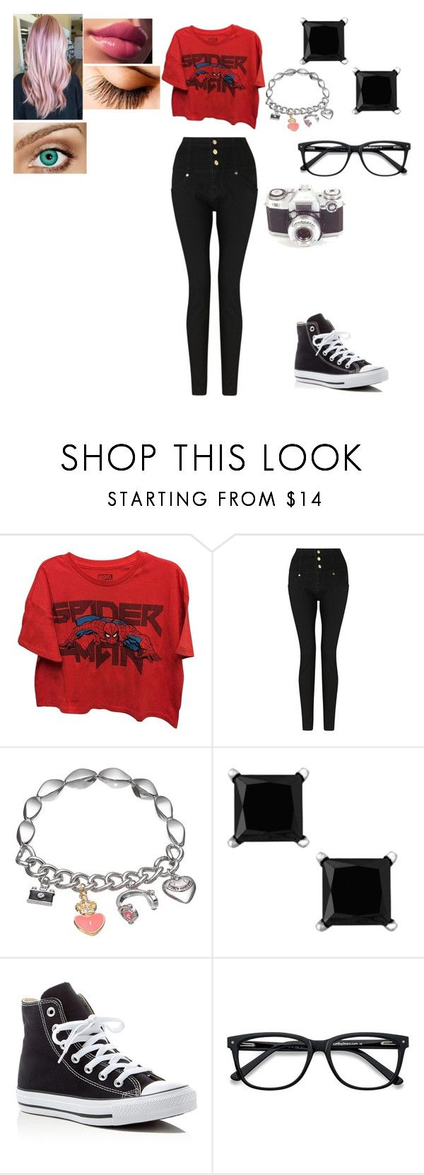 """""""Charlie #3"""" by kei-lily-amethyst on Polyvore featuring Marvel, Somerset by Alice Temperley, Juicy Couture, Converse and Ace"""