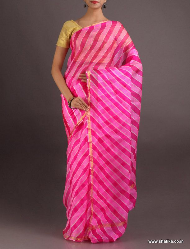 Vandana Alternating Shades Of Pink #LehariyaSilkSaree
