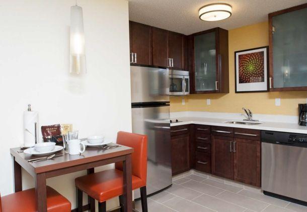 Residence Inn Grand Rapids Airport Studio Suite Kitchen Traveling
