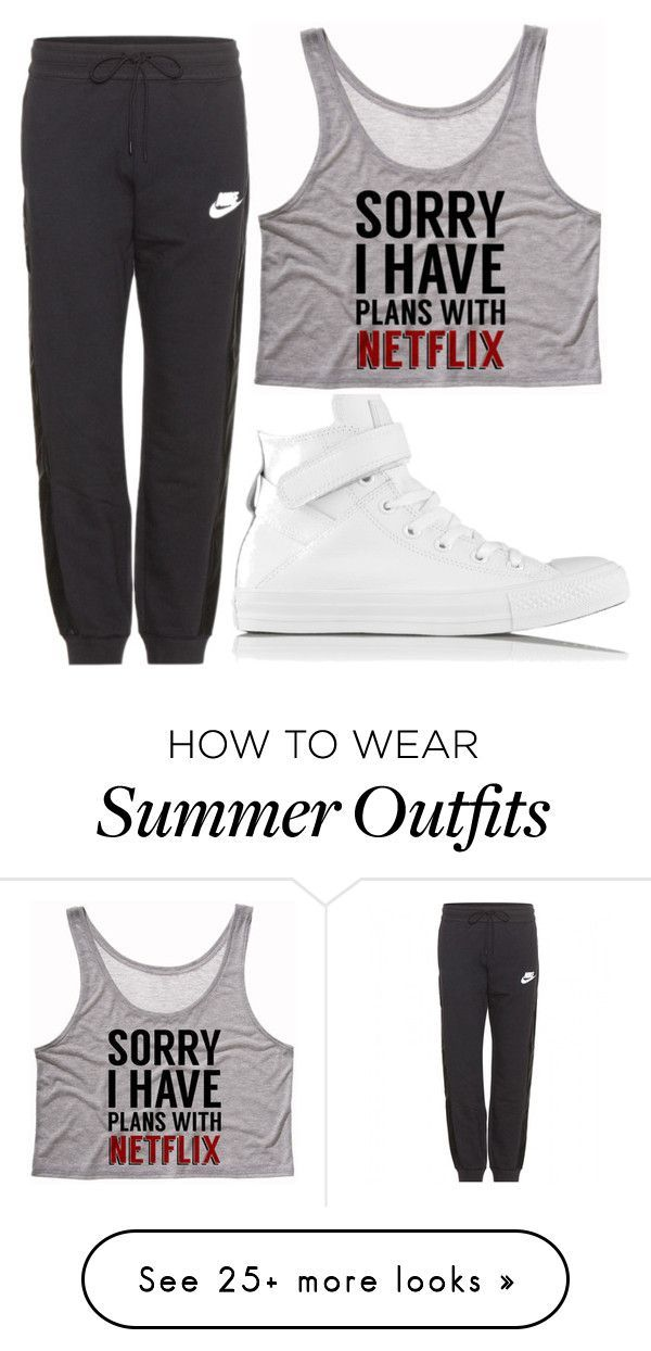 "b9a44858138f Collection Of Summer Styles ""Untitled  71"" by hallieleandra on Polyvore  featuring Converse and"