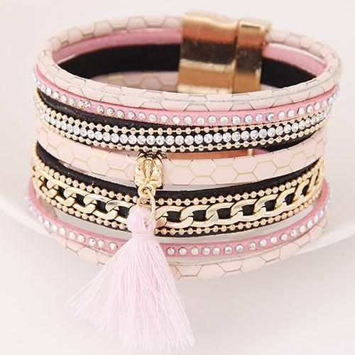 Multi layer Leather Bracelets For Women Inexpensive Birthday Gift